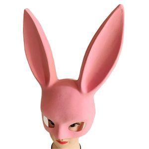 Lapin oreilles barre masque Halloween danse de fête KTV lapin fille personnalité demi-masque visage créatif scène maquillage props masques sexy EWD2324