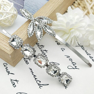 New Style Retro Tree Leaves Glass BP-Bobby Pin Europe and America Temperament Super Glisten Hairpin Rhinestone Women Bobby Pin