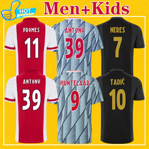 Jersey 2020 2021 Home Away Terceira Tadic Antony Neres Promes Labyad Huntelaar 4xl Camisa de Futebol 20 21 Men + Kid Kit