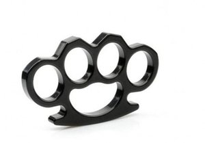 Silver And Black Thin Steel Brass Knuckle Dusters,self Defense Personal Security Women's And Men's S bbywIZ outbag2007
