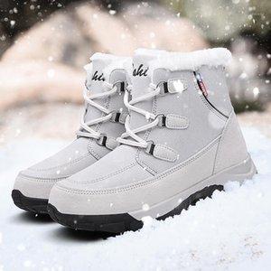 Okkdey Isınma Kürk Ayak Bileği Çizmeler Kadınlar Için Yürüyüş Peluş Kadın Kış Çizmeler Kadın Bayanlar Kış Trekking Shoes1