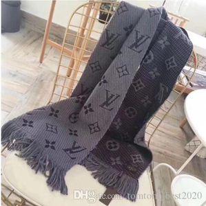 GUCCI Louis Vuitton 2020 Winter-Logomania SHINE Schal Marke Luxus Zwei Side Schwarz Rot Silk Wolldecke LVSchal für Frauen-Modedesigner-Blumen Schal