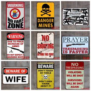 Warning Tin Signs No Trespassing Gun Plates Alert Vintage Poster Metal Plaque Bar Garage Shop Home Decor 40 Designs Yw3573 FDG