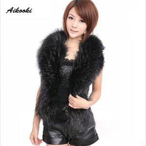 Aikook New Women Fashion Faux Fur Jacket Vest Coat Winter Coat Women Waist Fur Gilet Women's Jacket Vest For Ladies