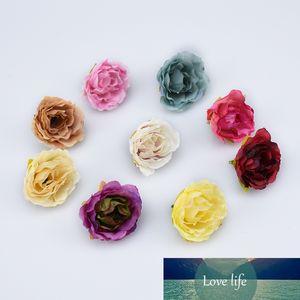 10pcs artificial plants for decoration silk roses flowers wall needlework diy wreath a cap bridal brooch home decor wedding