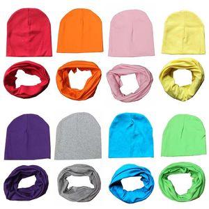 Шапочки мягкие 19 цветов девушки мальчик колпачок хлопок шарф младенческая удобная 1-словная зимняя осень детская шляпа