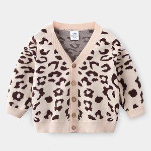 Baby Leopard Cardigan Automne Hiver 2020 Nouveaux garçons 'Porter Pull manteau pour enfants My-1621