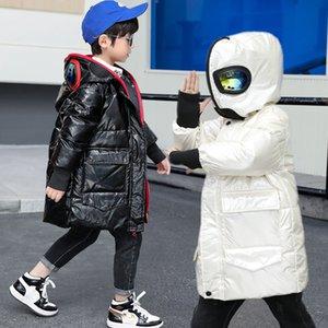 Ultraman garçons veste vers le bas, milieu et grand manteau épais masqué, vêtements d'hiver, lunettes Superman enfants se lavent sans imperméable