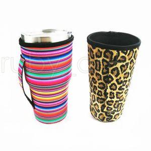 15 Styles 30oz Tumbler Holder Sacs Cover Iced Coffee Cup manches en néoprène isotherme manches Tasses tasses Bouteille d'eau couverture avec sangle RRA3776