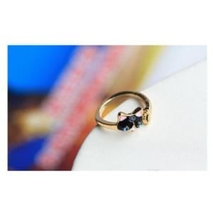 La nueva gota de anillo de diamante de cristal de aceite Moda Bule Eyes Anillo de gato Anillo de apertura W Sqcavx dh_seller2010