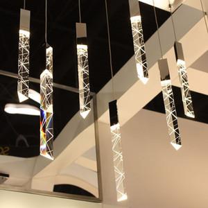 Modern Loft LED Chandelier K9 Crystal Chrome Duplex Stair Chandelier Living Room Hotel Ceiling Hanging Light Luxury Pendant Lamp