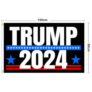 Neuf Trump 2024 Flag U.S. Drapeau de la campagne présidentielle 90 * 150cm 3 * 5ft bannière drapeau pour jardin à la maison Jardin Yard 13 Style Gratuit DHL Ship GWF4965
