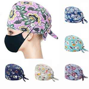 Hats for women hat Adjustable Lace Cap And Cute Pattern Men And Women Sweat Band With Buckle Unisex Caps sanitary cap New
