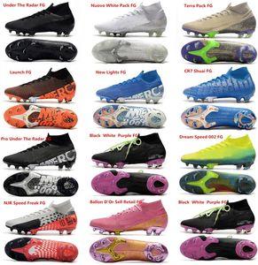 Top Mercurial superfly VII 7 Elite FG cr7 Soccer Shoes Cristiano Ronaldo Mens Neymar JR Sonho de alta velocidade meias botas de futebol chuteiras
