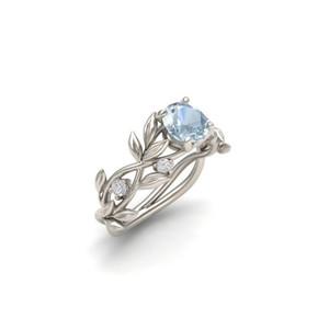 2021 Высококачественные кольца Hot Flower Ювелирные Изделия Циркон Ювелирные Изделия Принцесса Обручальное кольцо Позолоченное Сапфировое кольцо