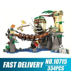 10715 334 шт. Ninjago серии серии фильмов Master Falls 4 фигурки строительный блок 70608 кирпич игрушка C1115