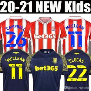 2020 2021 Stoke City Football Maillots Accueil VOKES POWELL MCCLEAN Afobe loin 20 21 hommes et enfants kit de football chemise