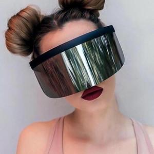 Masque à moitié visage Protection solaire UV400 Grand Miroir Sunglasses Sunglasses Sunglasses Sports de plein air Accessoire de sport