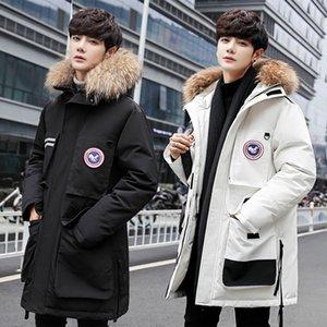 Kooy ветровки стиль 2016Thick Теплую зиму западной вниз куртка для мужчин водонепроницаемого мехового воротника WholesaleNew с капюшоном пальто высокого качества в стиле утка