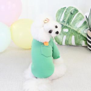 Petite molleton Chien pour animaux de compagnie Accessoires durables Accessoires Sweats Sweats Sweats Carotte Mignon Chaud Sweater Automne Hiver Nouvelle arrivée 8CL K2