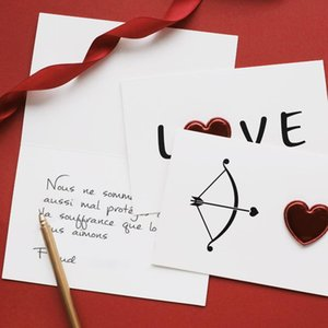 New 1Pc Cards Valentines Day Gift Love Postcard Wedding Invitation Greeting Cards Anniversary for Her Valentines Day Gift Card