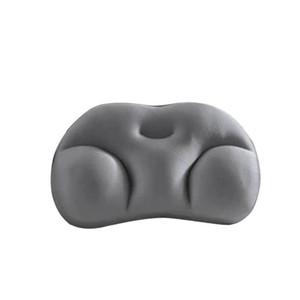 Portable Travel Washable Lightweight Soft Pillow Foam Filling Car Sleep Cushion Bedding 3D Ergonomic Neck Support Head Rest