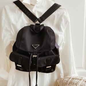 New Moda feminina Mochilas Big Mochila com dois bolso Grande Capacidade Moda Mochila Homens Mulheres Escola Estudante Bag Unisex viagem Handbag