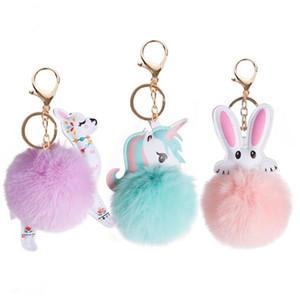 هدية عيد الميلاد لطيف قلادة الحيوان هوك فرو الأرنب حقيبة اكسسوارات الفاصل حقيبة الفراء المفاتيح حقيبة يد مصمم شماعات حقيبة هوك أزياء bagshook