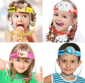 Us Stock 20 шт Dhl детей мультфильм Защитная маска Anti-туман Изоляция Маска Полный Защитная маска Прозрачный Защита Pet заставок DROPLETS