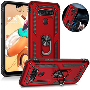 Military Anti-Fall Phone Case For LG K51s K40s K61 K51 K50s K50 K40 Magnetic Finger Ring Shell Case For LG Harmony 4 Stylo 6 5 Aristo 5