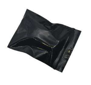 미니 4 * 5cm 블랙 DIY 선물 플라스틱 포장 패키지 가방 목걸이 쥬얼리 선물 지퍼 잠금 지퍼 포장백 가방 Resealable 스토리지 500pcs