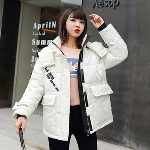 Winter new Women's jacket Fashion woman parkas Coats Print Thicken Warm Down cotton Jacket Female Plus Size Loose outerwear 201031