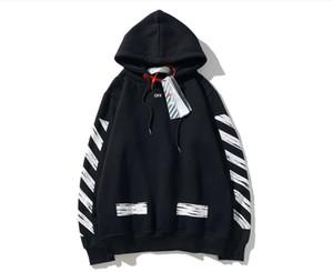 Gevşek Pamuk Siyah beyaz kadınlar kaliteli giysi boyut M-2XL Fleece Arrow kazak erkek kapalı Mens tasarımcı hoodies kapüşon baskılı Satış