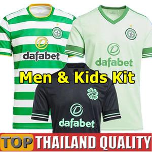nuovo 20 21 Celtico maglie da calcio Celtic top thailandia 2020 2021 celtico set di magliette da calcio terza casa fuori casa celtico uomini kit per bambini uniforme