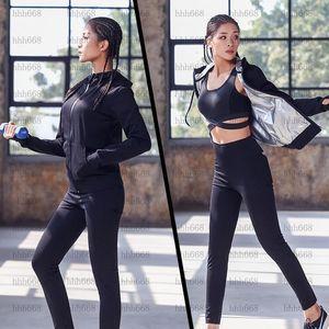 Femmes Yoga Ensemble de transpirations Cuivre Sport Veste Pantalons Sweat-shirt Sweat-Bra SweatSuits Courir Jog Fitness Sport Tracksuit Sportswear1