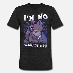 No Scaredy Cat Pastel Goth Cat with Knife T Shirt Classic Horror Vintage Tracksuit Hoodie Sweatshirt