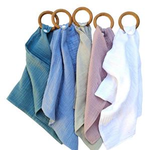 Baby Cotton Bibs Stuffs Bibs Chacifier Soft Saliva Toalla BPA Free Wooden Roed Feeding Baberos Burp Cloth Sea Shipping GWB4498