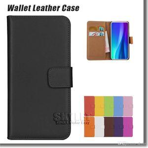 Cassa da portafoglio in vera pelle per iPhone 11 Pro XS Max XR 7 8 Plus Galaxy S20 S20 Plus S10E S9 Nota 9 S8 Plus Casi di copertura flip con sacchetto opp