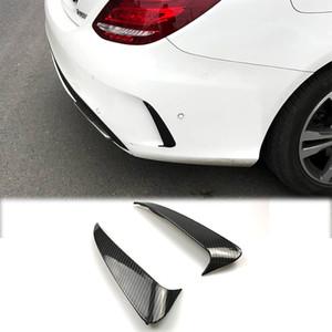 Auto Styling Kohlefaser Rückseite Spiegel Körper Nebelscheinwerfer Aufkleber Abdeckung Für Mercedes-Benz C-Klasse W205 Zubehör