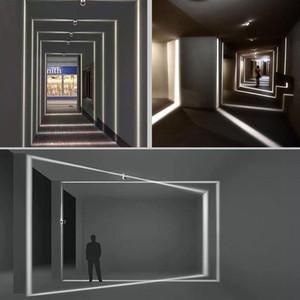 실외 방수 IP67 LED 벽 램프 표면 주도 장착 벽 보루 라이너 통로 침실 조명 장식 창문 벽 빛