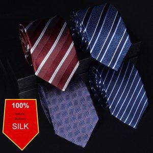100% Silk Men's Tie Dress Business Groom Wedding Occupation Necktie Neckcloth Neckwear Slim Formal Tie Corbatas Father's Gift 201027