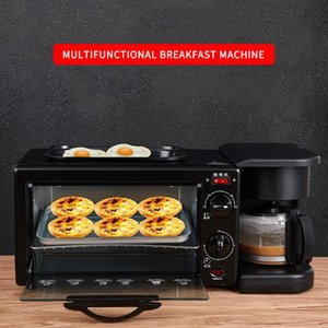 3 in 1 Kahvaltı Yapma Makinesi Çok Damla Kahve Makinesi Ev Ekmek Pizza Kızartma Pan Toaster 220 V Elektrikli Kahvaltı Makinesi