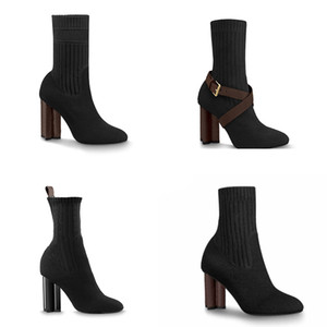 Donne Designer stivaletti Stivali Silhouette Stivali Nero martin Stretch High Heel Sock Stivali e Flat calzino Sneaker Boot Inverno Scarpe