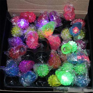Chegada Nova LED anel luz do flash Mitts Arrefecer levaram Flashing bolha Rave Partido Piscando macia Jelly Brilho Free Ship