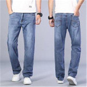 Осень / зима 2020 мода прямой нога сплошной цвет высококачественные мужчины прямые джинсы 14761