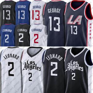 Los Angeleses Kawhi 2 Ville Leonard Jesrey Paul 13 George Jerseys 2021 Nouvelle déclaration uniforme de basketball noir