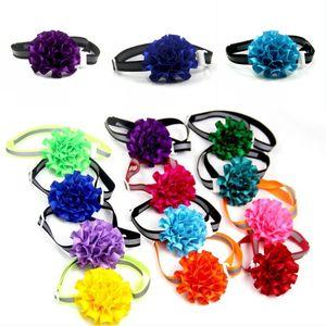 Verstellbarer Hund Choker Nette Welpen Blume Krawatte Charms Reflektierte Lichttuch Halsbänder Pet Supplies Polychromatische 1 41FJ G2