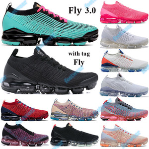 2021 NUEVO 3.0 hombres Mujeres Fly Cojín Sneakers South Beach Triple Blanco Black Pink Snakeskin Apenas rosa Oro Noble Transportes Red Tag