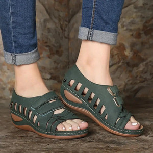 Women's Summer Open Toe Comfy Sandals Super Soft Premium Orthopedic Low Heels Walking Sandals Corrector Cusion 201021