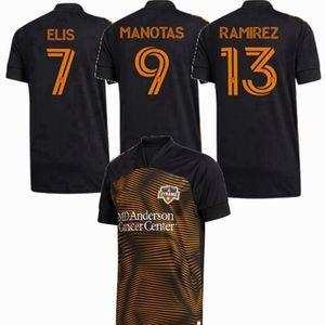 2020 2021 Houston Soccer Jerseys Dynamo Elis Ramirez Manotas 20 21 Chemise pour hommes et enfants de football